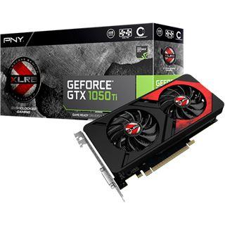 4GB PNY GeForce GTX 1050 Ti XLR8 Gaming OC Aktiv PCIe 3.0 x16 (Retail)