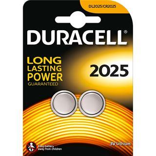 Duracell CR2025 Lithium Knopfzellen Batterie 3.0 V 2er Pack