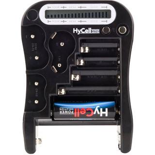 Ansmann Batterie-Tester mit LCD-Anzeige für Rund- und Knopfzellen sowie 9V-Block (1900-0037)