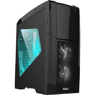 Azza Taurus 5000B mit Sichtfenster Big Tower ohne Netzteil schwarz