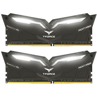 16GB TeamGroup T-Force Nighthawk White DDR4-3200 DIMM CL16 Dual Kit