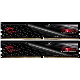 16GB G.Skill Fortis schwarz DDR4-2400 DIMM CL15 Dual Kit