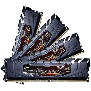 32GB G.Skill Flare X schwarz DDR4-2400 DIMM CL15 Quad Kit