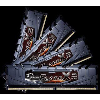 64GB G.Skill Flare X schwarz DDR4-2400 DIMM CL15 Quad Kit