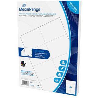 MediaRange Etiketten 105x74mm 400 Stück weiß