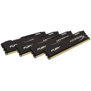 64GB HyperX FURY schwarz DDR4-2666 DIMM CL16 Quad Kit
