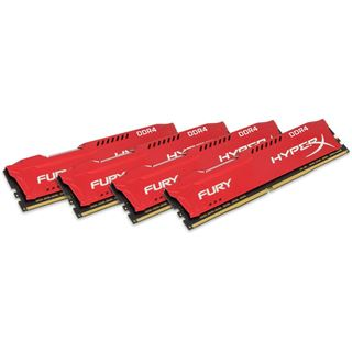 64GB HyperX FURY rot DDR4-2400 DIMM CL15 Quad Kit