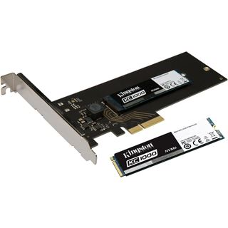 240GB Kingston KC1000 NVMe + PCIe AIC M.2 2280 PCIe 3.0 x4 32Gb/s MLC NAND (SKC1000H/240G)