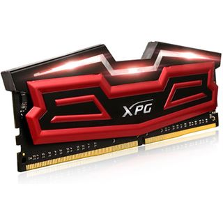 64GB ADATA XPG Dazzle LED rot/schwarz DDR4-3000 DIMM CL16 Quad Kit