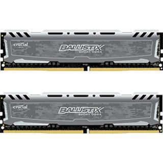 8GB Crucial Ballistix Sport LT Single Rank grau DDR4-2400 DIMM CL16 Dual Kit