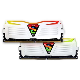 16GB GeIL EVO Super Luce RGB LED weiß DDR4-2400 DIMM Dual Kit