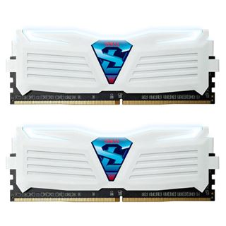 16GB GeIL EVO Super Luce weiße LED weiß DDR4-2400 DIMM Dual Kit