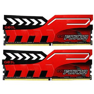 16GB GeIL EVO Forza rot DDR4-2666 DIMM CL16 Dual Kit