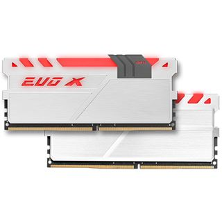 16GB GeIL EVO X weiß/grau DDR4-3000 DIMM CL16 Dual Kit