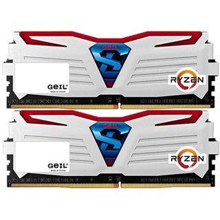 8GB GeIL Ryzen Super Luce rote LED weiß DDR4-2400 DIMM CL16 Dual Kit