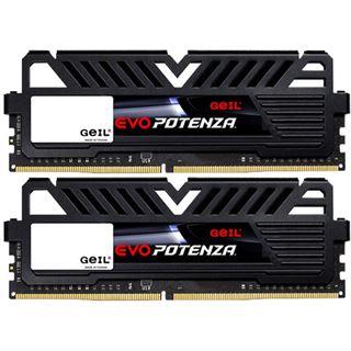 8GB GeIL EVO Potenza schwarz DDR4-2400 DIMM CL16 Dual Kit