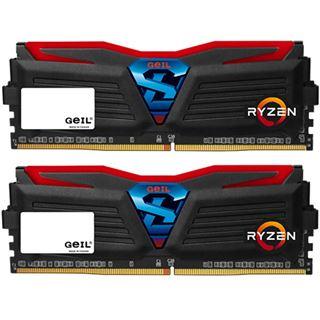 8GB GeIL Ryzen Super Luce rote LED schwarz DDR4-2400 DIMM Dual Kit