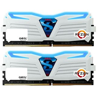 8GB GeIL Ryzen Super Luce blaue LED weiß DDR4-2400 DIMM Dual Kit