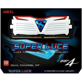 8GB GeIL EVO Super Luce rote LED weiß DDR4-2400 DIMM CL16 Dual Kit