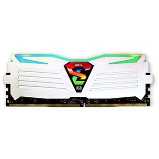 8GB GeIL EVO Super Luce RGB LED weiß DDR4-2400 DIMM CL15 Dual Kit