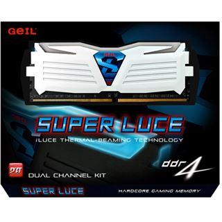 8GB GeIL EVO Super Luce weiße LED weiß DDR4-2400 DIMM CL16 Dual Kit
