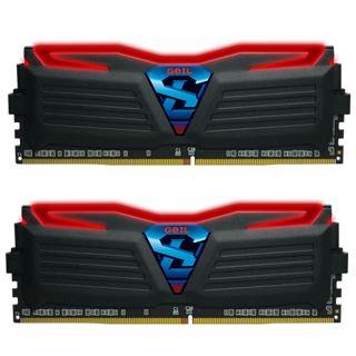 8GB GeIL EVO Super Luce rote LED schwarz DDR4-2400 DIMM Dual Kit