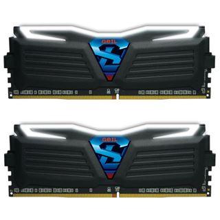 8GB GeIL EVO Super Luce weiße LED schwarz DDR4-2400 DIMM CL16 Dual Kit