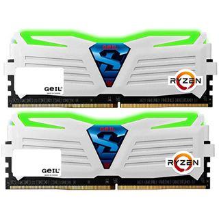 8GB GeIL Ryzen Super Luce grüne LED weiß DDR4-2400 DIMM Dual Kit