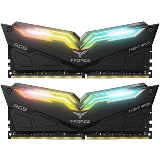 16GB TeamGroup T-Force Night Hawk RGB schwarz DDR4-3000 DIMM CL16 Dual Kit