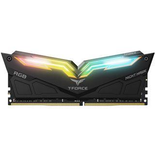16GB TeamGroup T-Force Night Hawk RGB schwarz DDR4-3200 DIMM CL16 Dual Kit