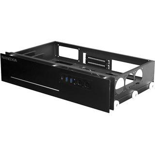 Nanoxia Project S Mini mit Sichtfenster Mini-ITX ohne Netzteil schwarz