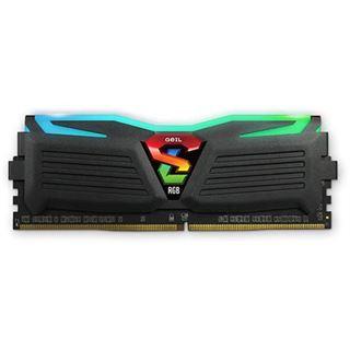 16GB GeIL EVO Super Luce Sync RGB LED schwarz DDR4-3000 DIMM CL16 Dual Kit
