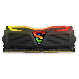 16GB GeIL EVO Super Luce Sync RGB LED schwarz DDR4-2400 DIMM CL16 Dual Kit